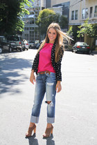 Joes Jeans jeans - Zara blazer - Chanel bag - banana republic heels - Zara top -