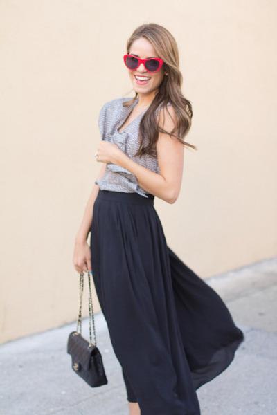 JCrew glasses - H&M skirt