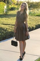 Forever 21 skirt - Chanel bag - Forever 21 necklace - Charles David heels