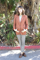 vintage blazer - thrifted vintage blouse - thrifted vintage pants