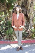 vintage blazer - thrifted vintage blouse - thrifted vintage pants