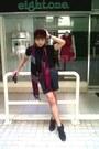Black-ankle-boots-charles-keith-boots-crimson-velvet-forever21-hat