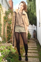 beige coat - brown faconnable shirt - black studio tmls shoes - brown Fetishisme