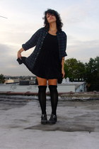 Jeffrey Campbell shoes - brandy melville dress - vintage shirt