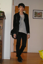 Diet Butcher Slim Skin jacket - Rick Owens top - MB999 top - NumberNine pants -