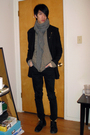 Black-ys-by-limi-coat-gray-devoa-accessories-beige-nice-collective-jacket-