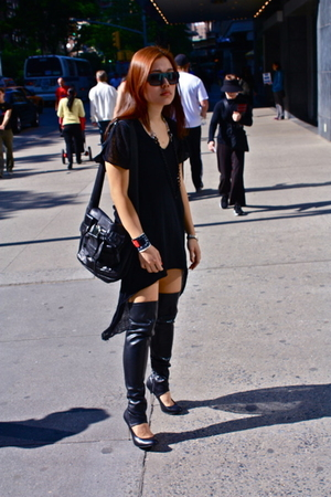 American Apparel dress - Chlo purse - Zara shoes - Chlo sunglasses