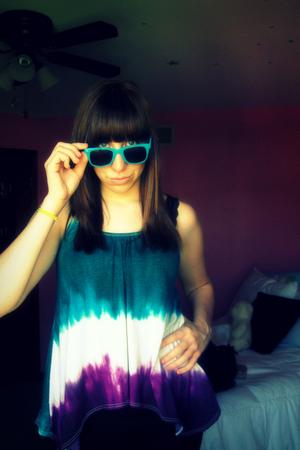 Pac Sun sunglasses - Charlotte Russe shirt - Wet Seal jeans - Claires bracelet