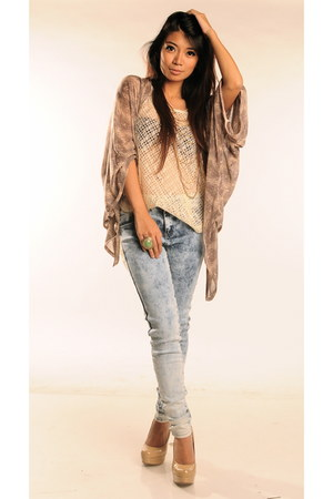 Topshop pants - Steve Madden heels - Topshop cardigan - Forever 21 accessories
