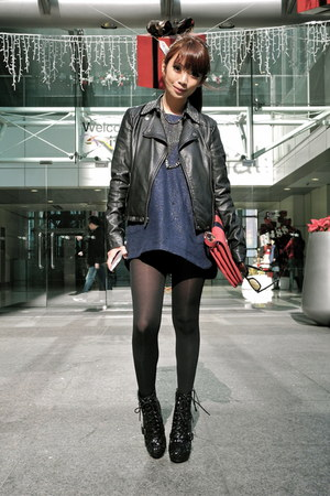 Steve Madden boots - Zara dress - Topshop jacket