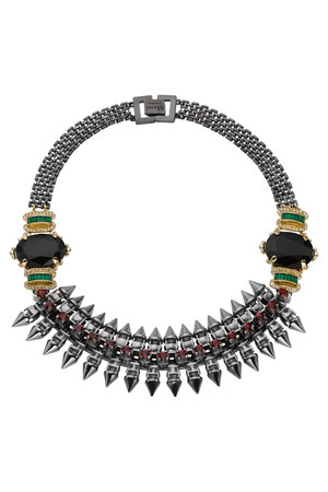 gems spikes Mawi necklace