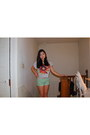 Carrot-orange-forever-21-shirt-aquamarine-cotton-forever-21-shorts-pink-skin