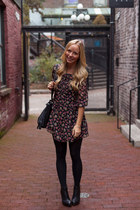 Modern Vintage boots - free people dress - ora bag