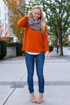 Club Monaco sweater - Dolce Vita boots - citizens of humanity jeans