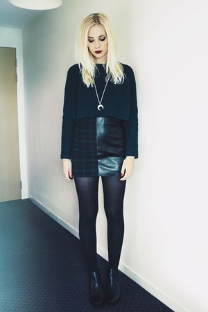 Topshop jumper - leather tartan Topshop skirt