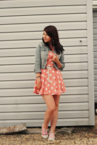 light pink tstylesu dress - light blue new look jacket