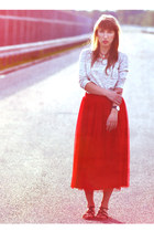 red Only skirt