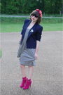 White-jean-paul-gaultier-for-target-dress-blue-vintage-blazer-pink-mixx-shoe