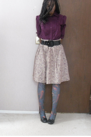 Jcpenny shirt - Steve Madden shoes - Jcpenny tights
