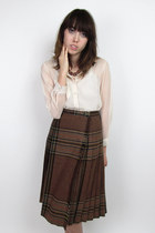 brown vintage 70s skirt