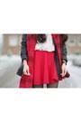 Black-ribbon-jacket-ivory-oasap-shirt-ruby-red-h-m-scarf