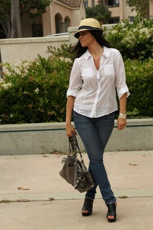 Old Navy shirt - American Eagle jeans - Dolce Vita shoes - Hammitt purse