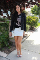 H&M blazer - Sole Society bag - Gap skirt - asos sandals