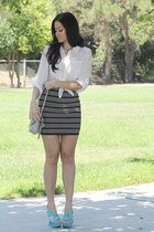 Forever 21 skirt - foley  corinna bag - Old Navy blouse