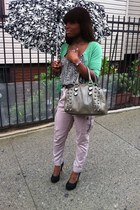 green Target sweater - moss green Aldo bag - balck suede Steve Madden pumps