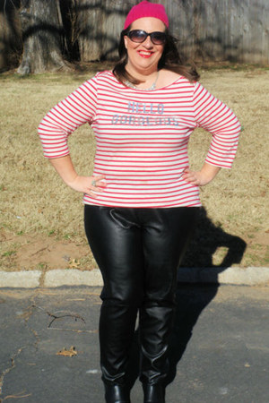 Old Navy top - TJ Maxx boots - Old Navy hat - Michael Kors sunglasses