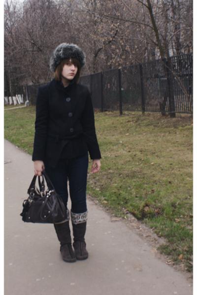Topman hat - habana coat - Uggs shoes - Nine West purse