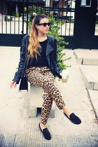 Motel Rocks jacket - She Inside loafers - Zara pants