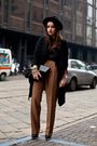 Black-dolce-gabbana-top-black-valentino-belt-brown-vintage-pants-black-vic