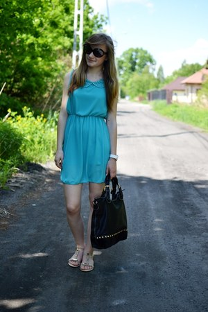 sky blue no name dress