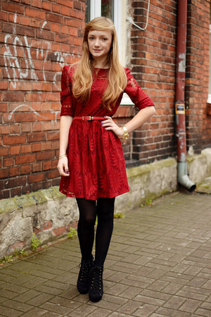brick red Choies dress