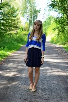 navy no name skirt
