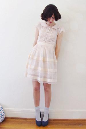 light pink Alannah Hill dress - light blue Forever New socks