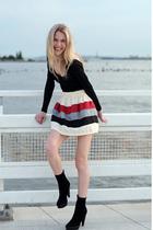 white DIY skirt - beige cavour print DIY purse