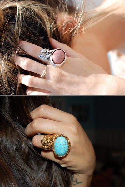 pink arty ovale ring Yves Saint Laurent accessories