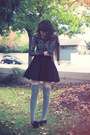 Black-addict-skater-style-stalker-dress-brown-picnic-forever-new-scarf-heath