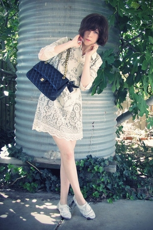 white Anna Sui for Target dress - white Steve Madden shoes - black Ebay belt - b