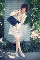white Anna Sui for Target dress - white Steve Madden shoes - black Ebay belt - b