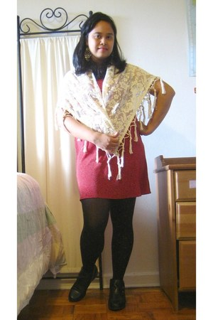 Urban Outfitters accessories - Thrfit Store dress - Forever 21 tights - Thrift S