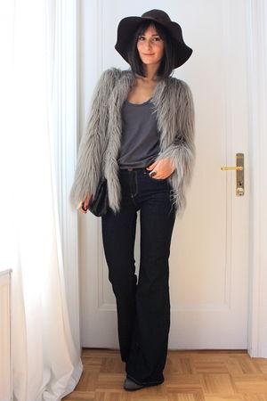wide leg jeans Zara jeans - Zara coat