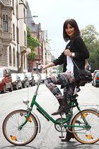 H&M blazer - weekday leggings - Fiorentini & Baker shoes - Chanel