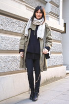 booties acne boots - parka weekday coat