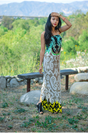 aquamarine maxi printed Tibi dress