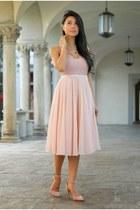 light pink American Apparel dress - light pink H&M skirt
