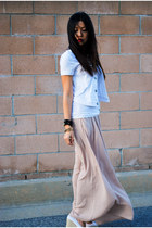 nude maxi skirt - ivory ombre Silver Jeans Co vest