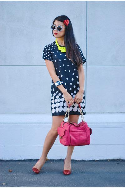 Chanel bracelet - dotted Boohoo dress